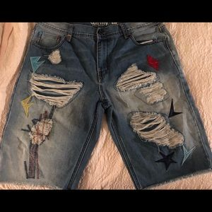 Born Fly Jean shorts